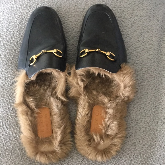 4374f645ed0 Gucci Other - Authentic Mens Gucci fur loafers mules size 14